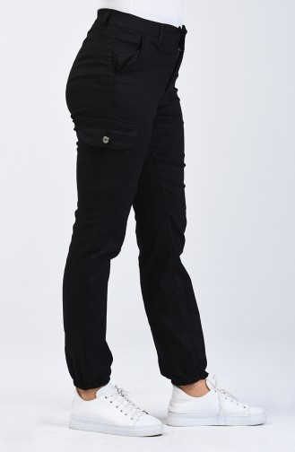 Cepli Kargo Pantolon 7506-01 Siyah