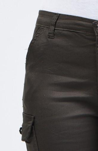 Cargo Pants with Pockets 7506-02 Dark Green 7506-02
