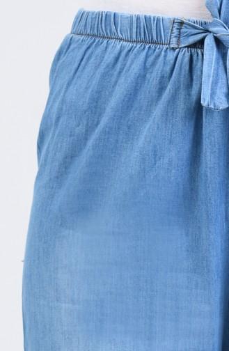 Jeans Schlaghose mit elastische Taille 7503-02 Jeansblau 7503-02