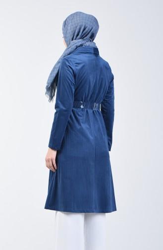 معطف مخمل أزرق برلماني 6417-06