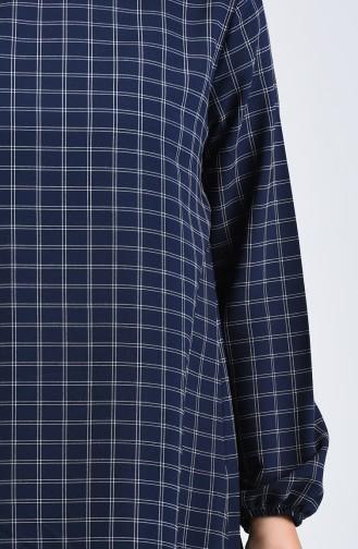 Kolu Lastikli Tunik Pantolon İkili Takım 1027-02 Lacivert