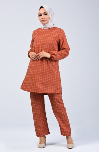 Elastic Sleeve Tunic Trousers Double Set 1027-06 Tile 1027-06