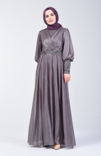 Lilac İslamitische Avondjurk 52772-03