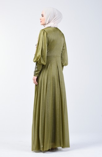 Henna Green İslamitische Avondjurk 52772-06