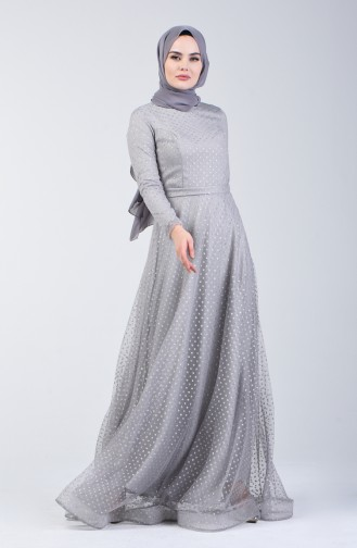 Gray İslamitische Avondjurk 83049-03