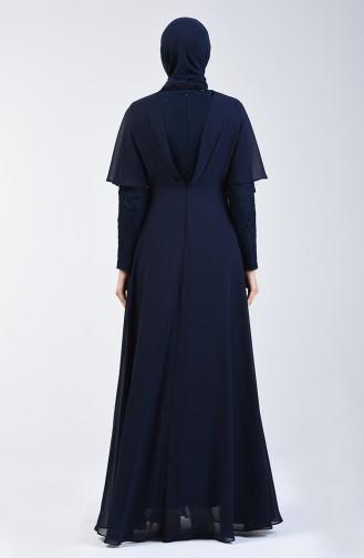 Dunkelblau Hijab-Abendkleider 6059-01