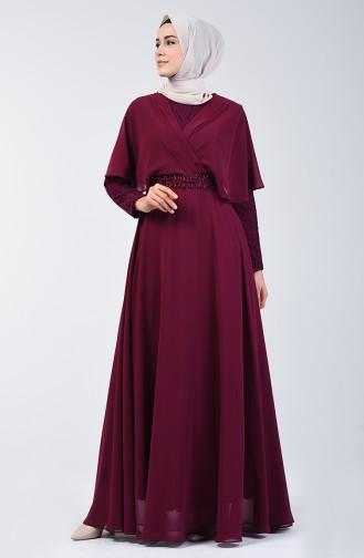 Damson İslamitische Avondjurk 6059-06