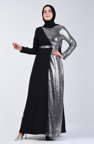 Pailletten Abendkleid  60098-01 Schwarz 60098-01