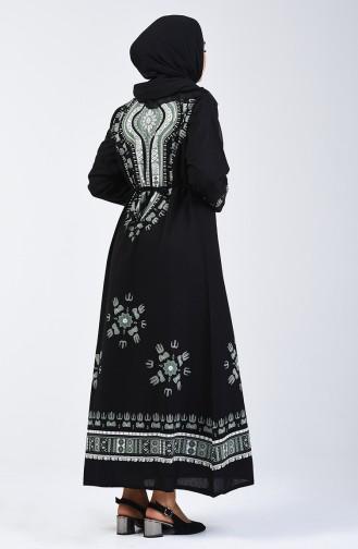 Black İslamitische Jurk 5555-01