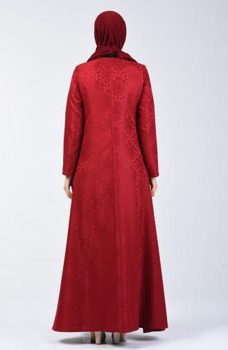 Robe Jacquard 3160-01 Bordeaux 3160-01