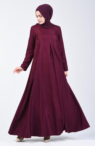 Jacquard Dress 3160-06 Damson 3160-06