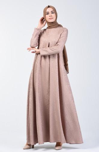 Jacquard Dress 3160-09 Mink 3160-09