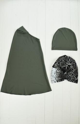Maillot de Bain Hijab Vert 372-02