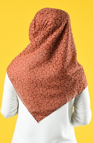 Elmina Patterned Cotton Scarf 884-03 Tile 884-03