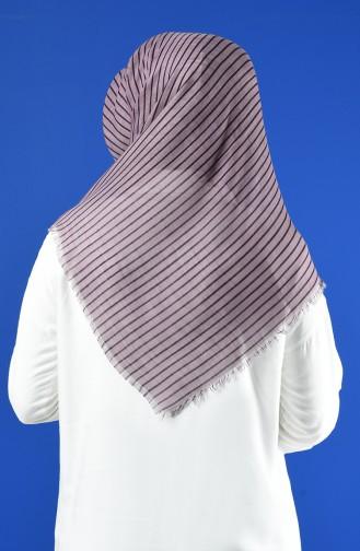 Elmina Patterned Cotton Scarf 893-02 Lilac 893-02
