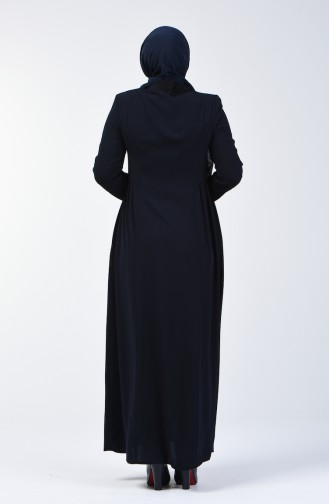 Navy Blue Abaya 3005-03