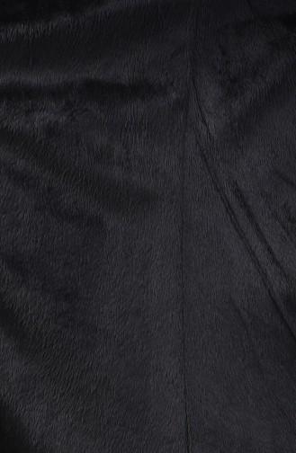 Kapüşonlu Uzun Kaban 4042A-01 Lacivert