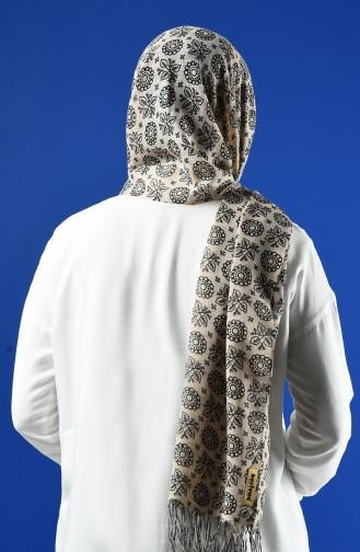 Elmina Patterned Cotton Shawl 910-104 Mink 910-104