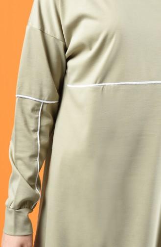 Biye Detaylı Tunik Pantolon İkili Takım 8226-08 Taş
