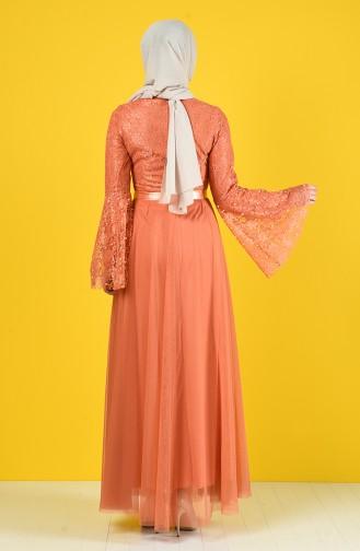 Perlen Tüll Abendkleid 81663-06 Zweibelschalefarbig 81663-06