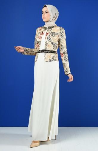 Stony Evening Dress 6y4636400-03 Ecru 6Y4636400-03