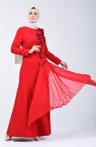 Robe de Soirée à Paillettes 6Y4636900-02 Rouge 6Y4636900-02