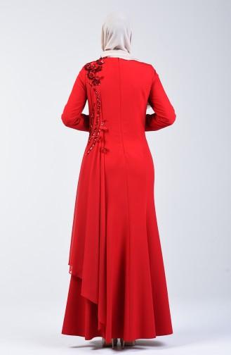 Red İslamitische Avondjurk 6Y4636900-02