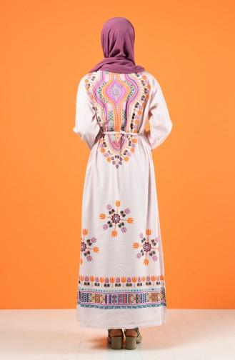 Pink İslamitische Jurk 5555-03