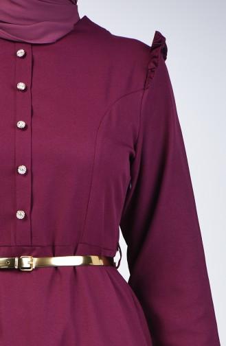 Frilly Dress 2555-05 Plum 2555-05