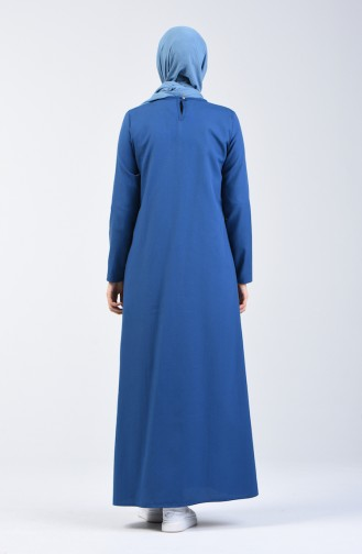 Indigo İslamitische Jurk 3162-03