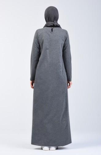 Gray İslamitische Jurk 3163-03
