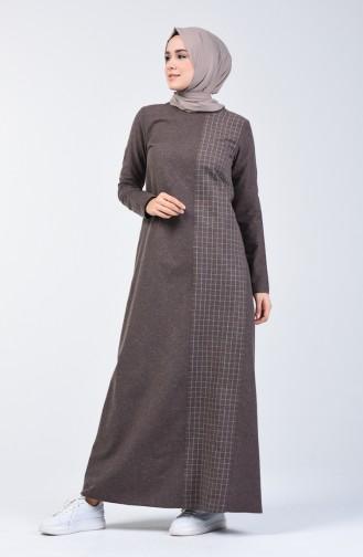 Brown İslamitische Jurk 3163-06