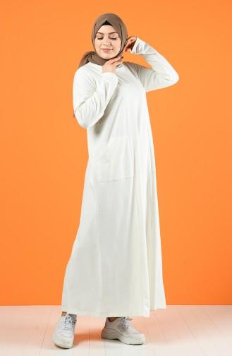 Sport Dress with Pockets 201447-04 Ecru 201447-04