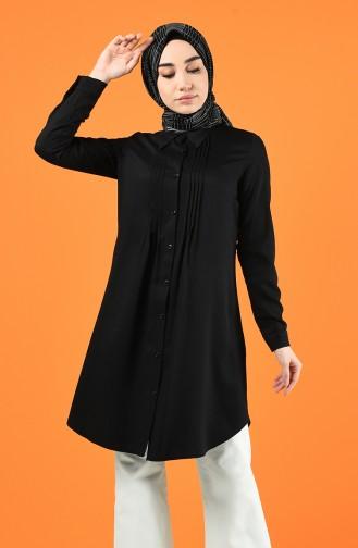 Buttoned Tunic 8165-01 Black 8165-01