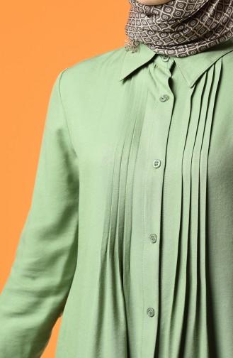 Düğmeli Tunik 8165-06 Nefti Yeşil