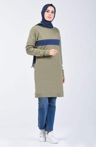 Striped Sport Tunic 10332-01 Khaki 10332-01
