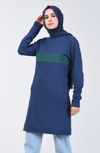 Striped Sports Tunic 10332-03 Navy Blue 10332-03