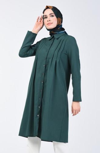 Ribbed Tunic 3167-01 Emerald Green 3167-01