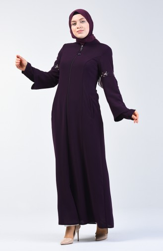 Besticktes Abaya 3003-04 Lila 3003-04