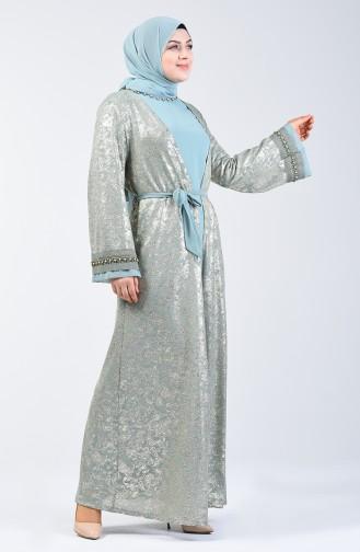 Mint green İslamitische Avondjurk 9Y3925300-02