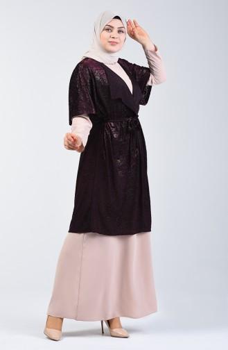 Zweier Anzug 9Y6961800-04 Lila Beige 9Y6961800-04