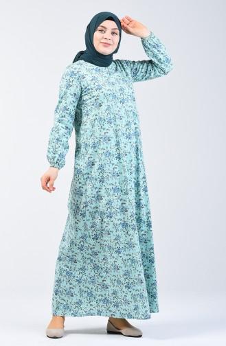 Green İslamitische Jurk 6169-01