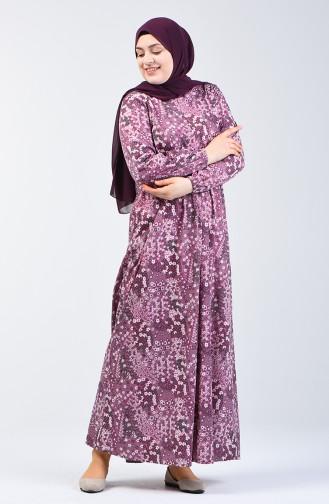 Robe Hijab Pourpre 6169B-01