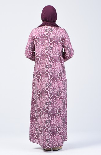 Purple İslamitische Jurk 6169B-01