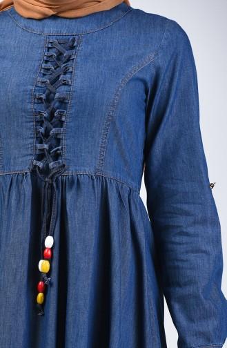 فستان أزرق كحلي 6139-01