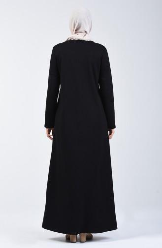 Black İslamitische Jurk 3157-03