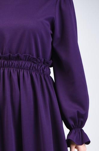 Elastic Waist Dress 4532-01 Purple 4532-01