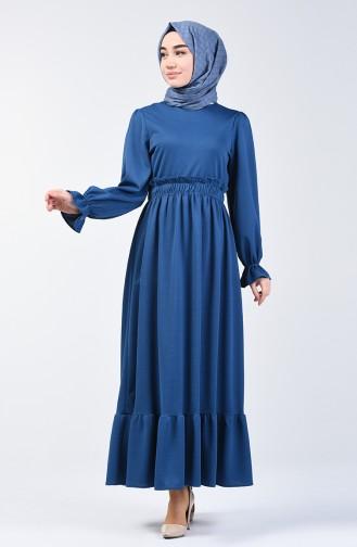 Elastic Waist Dress 4532-03 Indigo 4532-03