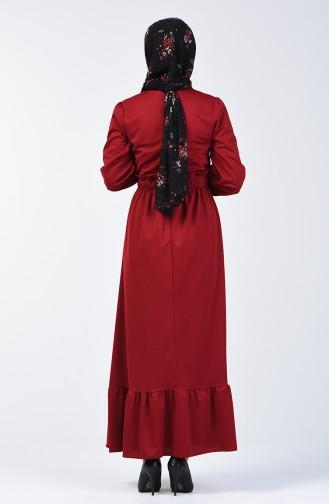 Elastic Waist Dress 4532-06 Claret Red 4532-06