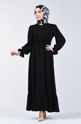 Elastic Waist Dress 4532-08 Black 4532-08